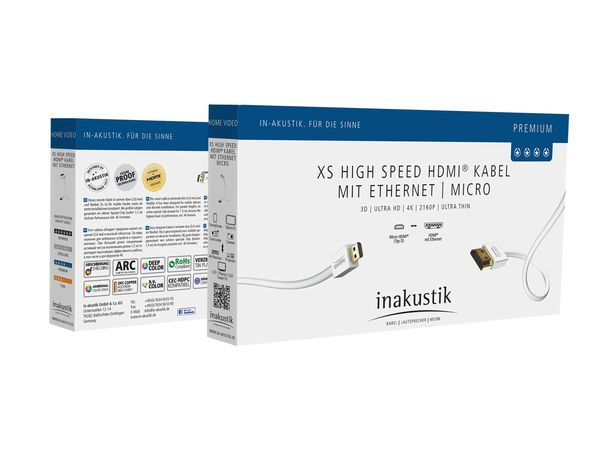 XS Standard HDMI Cable with Ethernet | Micro
