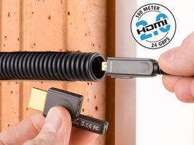 High Speed HDMI-Micro 2.0 Optical Fiber Cable | Up to 100m